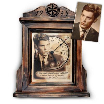 112a02fd33 Talpas fényképes óra - Antikolt fényképes ajándékok készítése ...