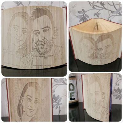 Portré mintájú könyvszobor