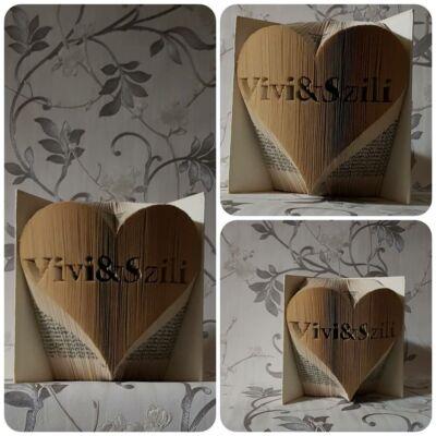 5c1ba31a098e Két névvel ellátott könyvszobor - Könyvszobrok készítése - Ajándék ...