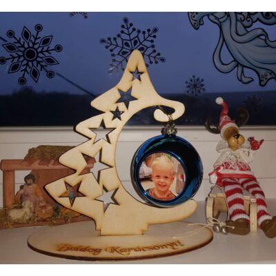 Talpas karácsonyfa asztali dísz